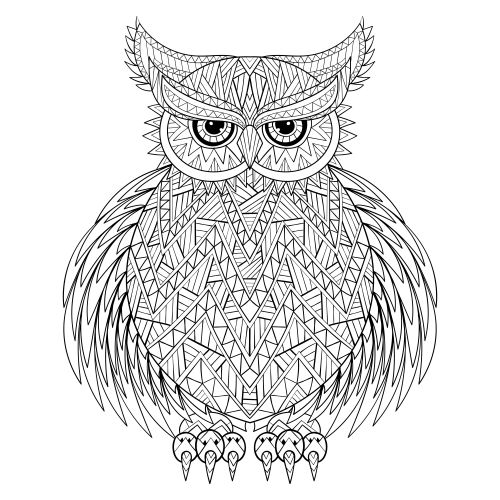 Owl be coloring in this free coloring page tonight!   #parentactivities #freestressrelief