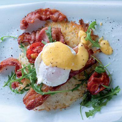 Taste Mag | The ultimate breakfast rosti with bacon and smoked pork rashers @ https://taste.co.za/recipes/the-ultimate-breakfast-rosti-with-bacon-and-smoked-pork-rashers/