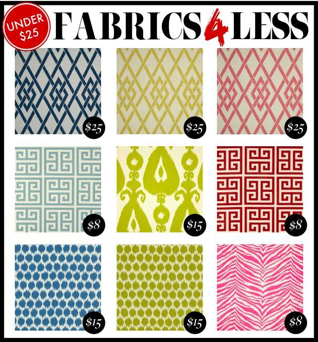 Fabrics for Less!
