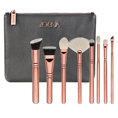 ZOEVA Rose Golden Luxury Set VOL. 3 Gracious Glamour 8 Essential Face and Eye Brushes For Your Daily Makeup Routine * Learn more by visiting the image link.