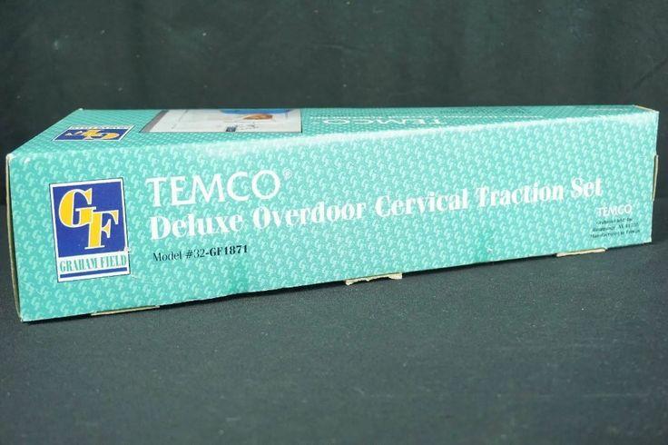 temco deluxe overdoor cervical traction set model 32