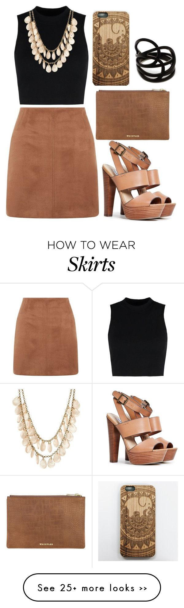 """Brown Skirt"" by fashionbloggerwannabe on Polyvore"