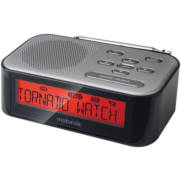 Motorola Desktop Weather Radio And Alarm Clock