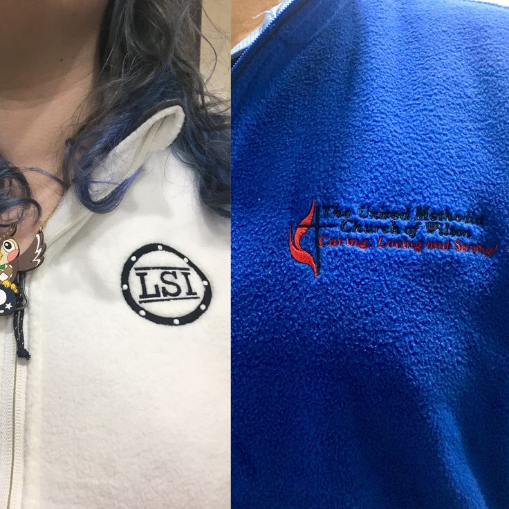 We embroider fleece vests! #embroidery #embroideredlogos #customvests
