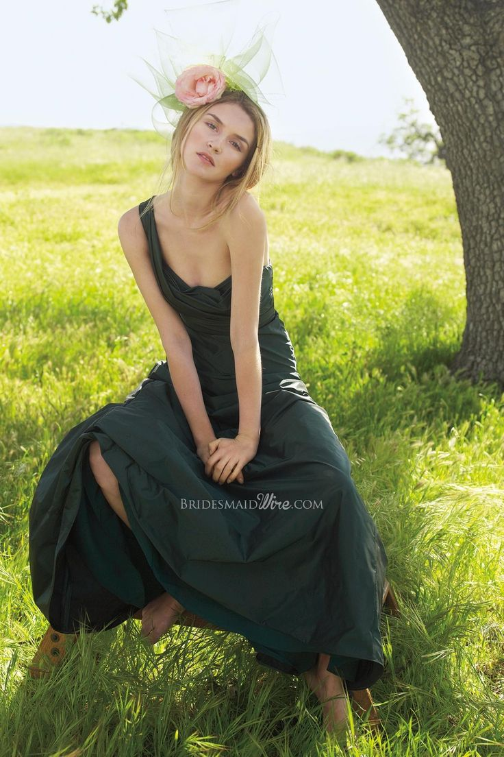 ♛  Largest Collection of Forest Taffeta Bridesmaid Dresses on sale.!  $246