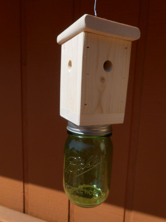 1 Carpenter Bee Trap  Wood Boring Bee Trap by RecycleWoodCrafts, $21.50