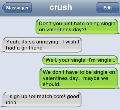 Epic text - Single on valentines day - http://jokideo.com/epic-text-single-on-valentines-day/