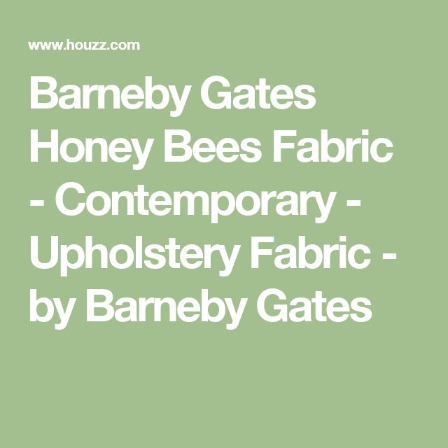 Barneby Gates Honey Bees Fabric - Contemporary - Upholstery Fabric - by Barneby Gates