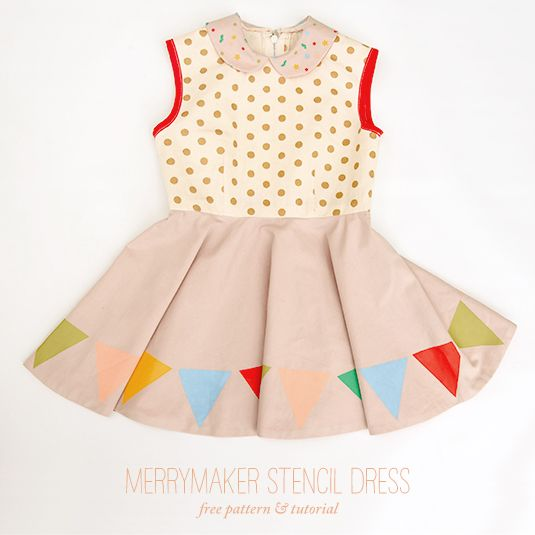DIY Merrymaker stencil dress. #HandmadeCharlotte