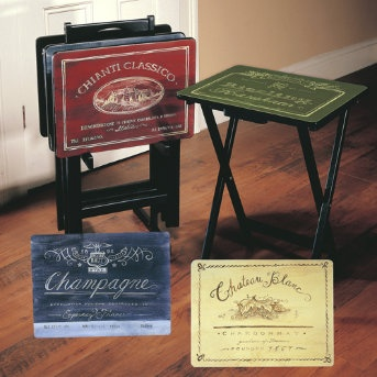 Great look for what are usually drab t.v. trays.