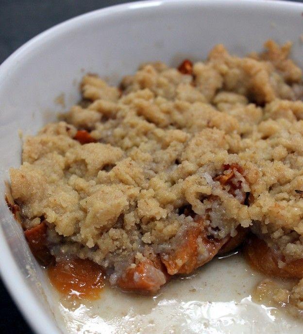 crumble abricots noix