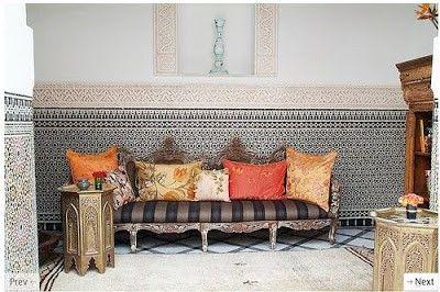 Marokon suunnittelu, sisustus, marokkolainen sisustus, laatta patio