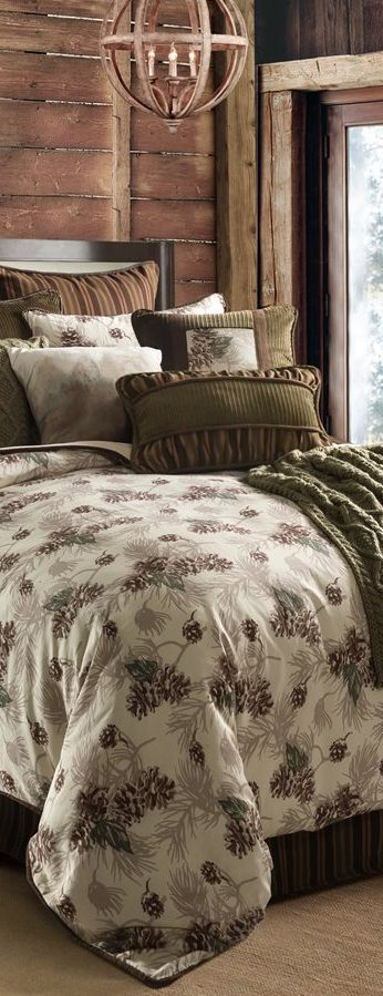 Forest Pine Rustic Bedding Collection #rustic #loghomes