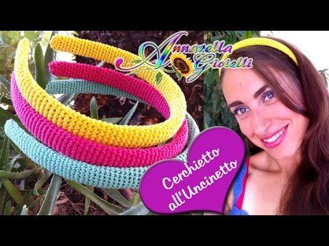 Tutorial Cerchietto per capelli  all'Uncinetto | How to crochet a headba...