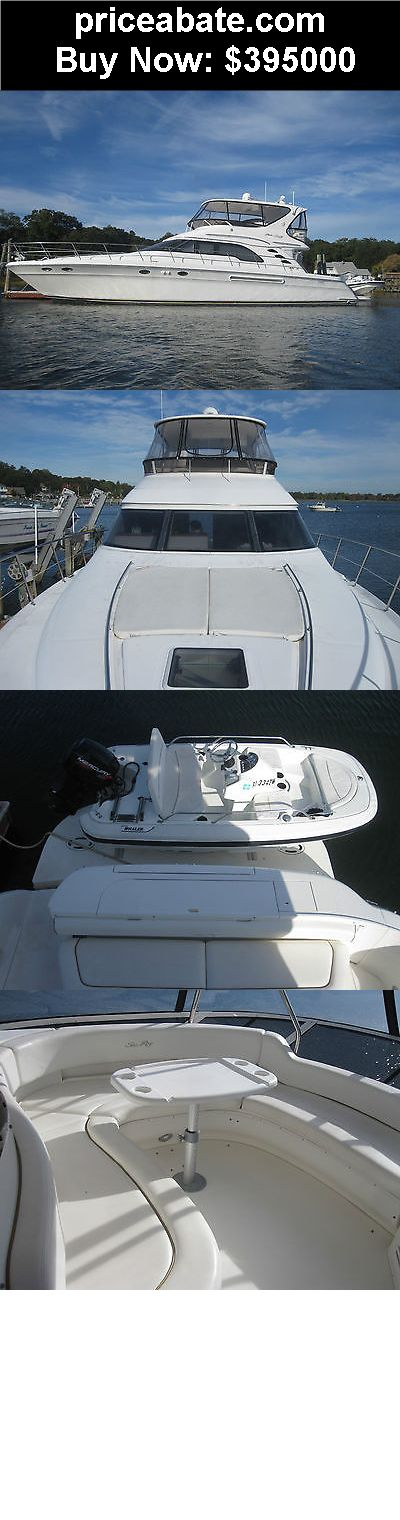 Boats: 2000 56 SEARAY SEDAN BRIDGE 8OO HP CATAPILLAR DIESEL WITH LOW HRS,  - BUY IT NOW ONLY $395000