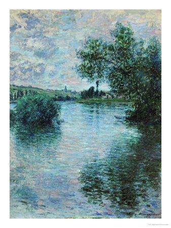This ready to hang, gallery-wrapped art piece features the Seine at Vetheuil. Claude Monet was a founder of French impressionist painting, and the most consistent and prolific practitioner of the move