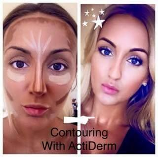 Do you need help knowing where to contour?? then this pic could help. shes wearing all Actiderm Make up with you can buy from www.actiderm.co.uk/me/sarah-jackson