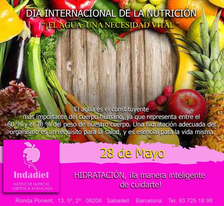 Cada 28 de mayo se celebra en todo el mundo el Día de la Nutrición que es una iniciativa de la Federación Española de Sociedades de Nutrición, Alimentación y Dietética (FESNAD), en colaboración con otras instituciones y con el apoyo de la industria farmacéutica y alimentaria. Colabora con nosotros y comparte nuestra publicación!!