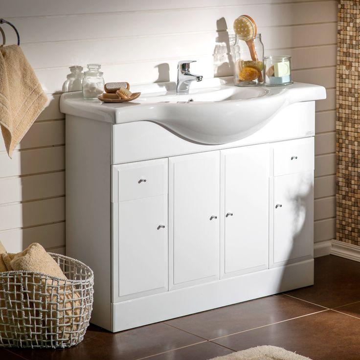 Mueble vanitorio para un baño clásico #Sodimac #Homecenter #Baños #Muebles