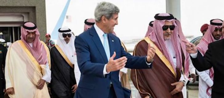 Inside Saudi Arabia Butchery Slavery History of Revolt Empire Secretary of State, Kerry looking very friendly. Screen snapshot on www.AlistairReignBlog.com)