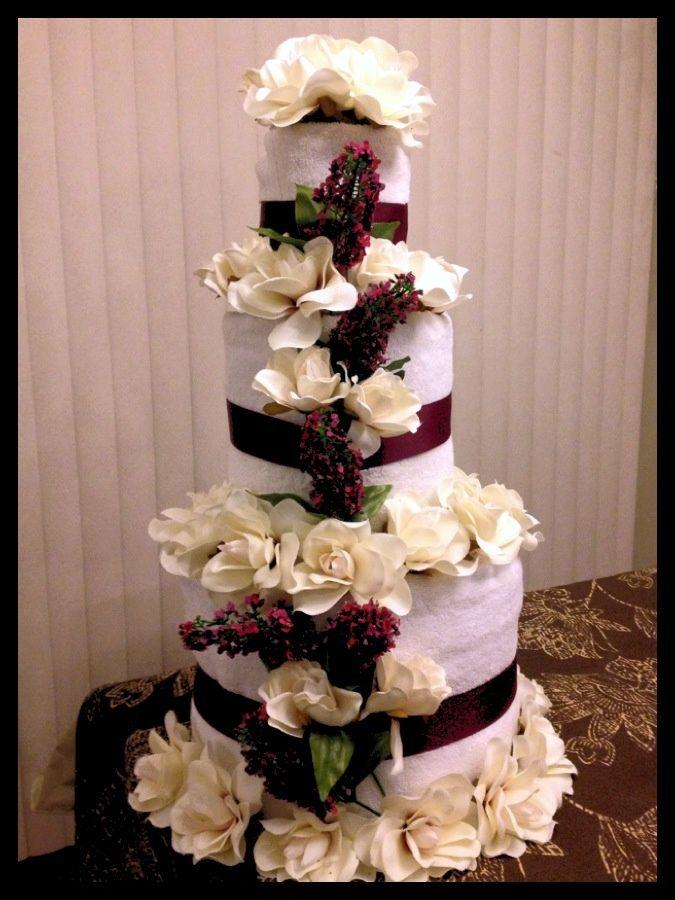 bridal shower towel cake wedding shower towel cake shower ideas bridal shower pinterest. Black Bedroom Furniture Sets. Home Design Ideas