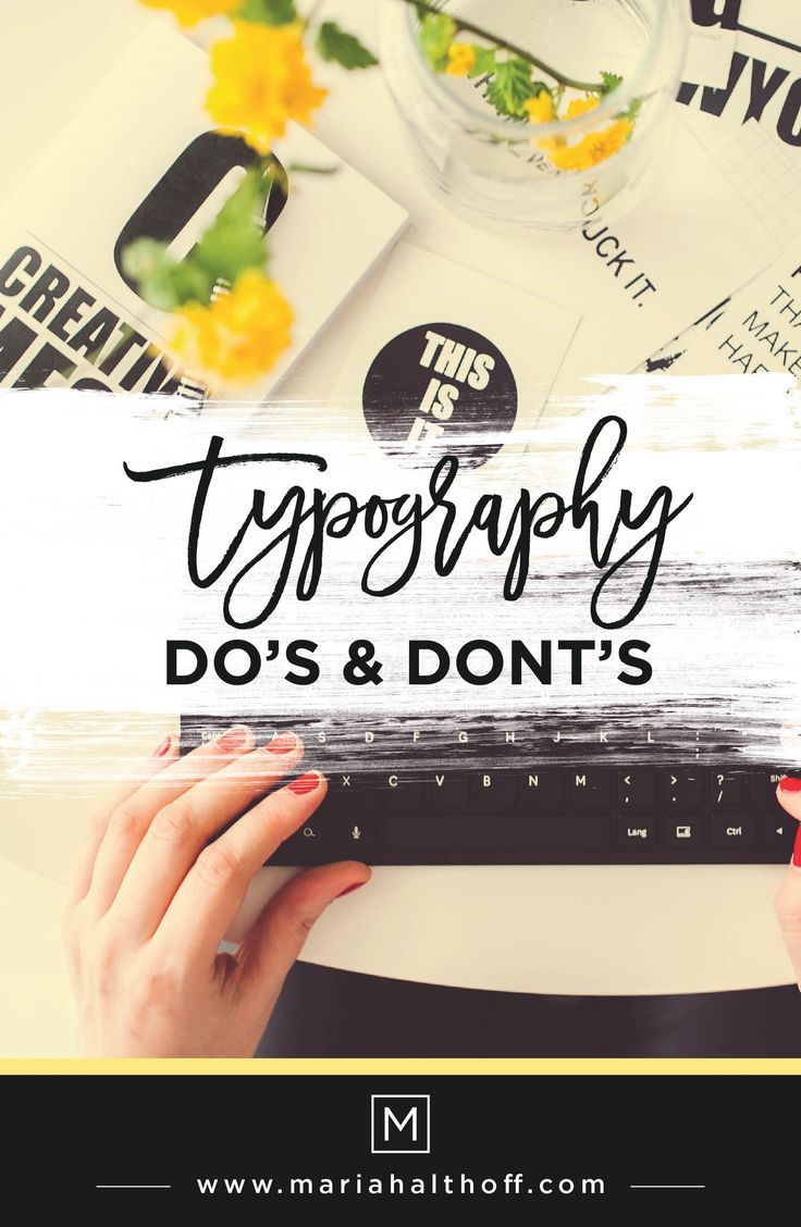Understanding the Do's and Dont's of typography is important for graphic designers and anyone creating their own graphics. Are you following these design rules? Click to find out what they are!