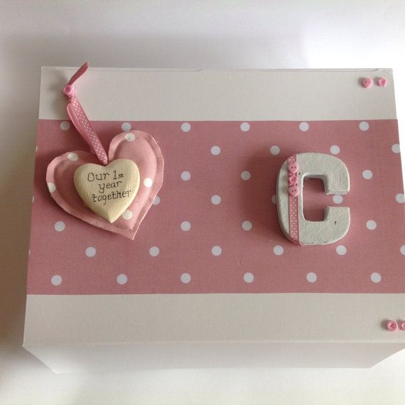 Baby Keepsake Box Our First Year Together by LittlePuggles on Etsy