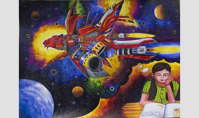 2014 Winner - 2nd Place, Category: Age 17-18 years, Sayani Karmaker, Kishalaya Art Center, Chittaranjan, Burdwan, India