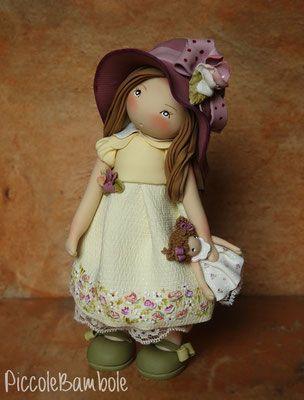 PiccoleBambole - Small dolls- porcellana fredda - cold porcelain - autunno