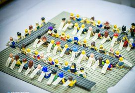 Wedding Seating Chart in LEGO. More Wedding inspiration on www.grafikstudion.com