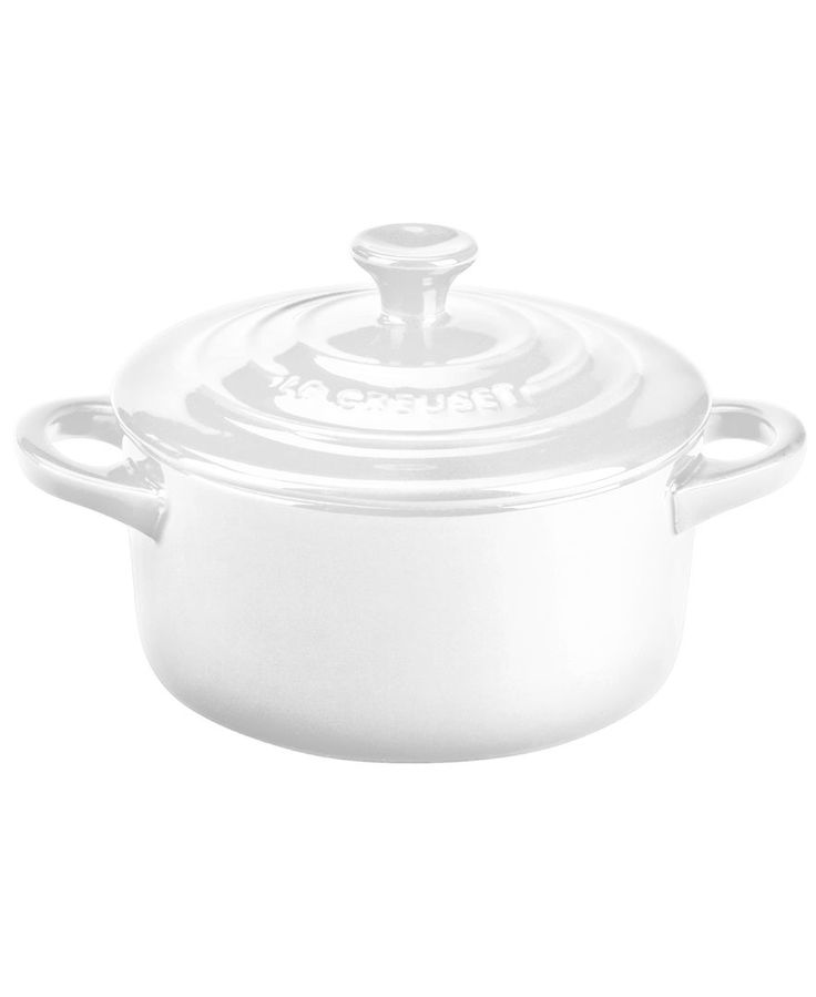 Cook it up, serve it up. Crafted for durability and ease of use with a traditional French design and brilliant enamel finish, the mini round cocette from cookware icon Le Creuset's serveware and servi