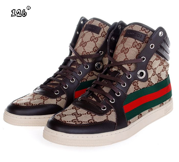 Gucci AAAA High Top Mens Shoes sale