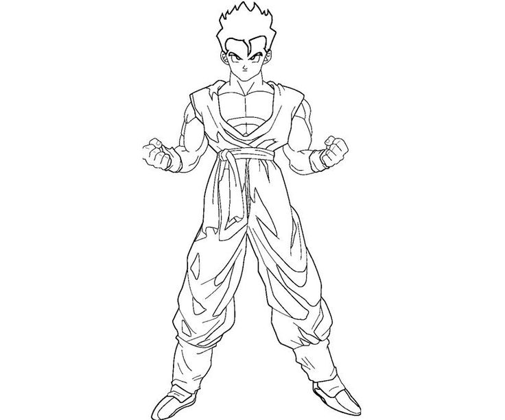 Dragon Ball Z Coloring Pages Gohan - Coloring Home | 613x736