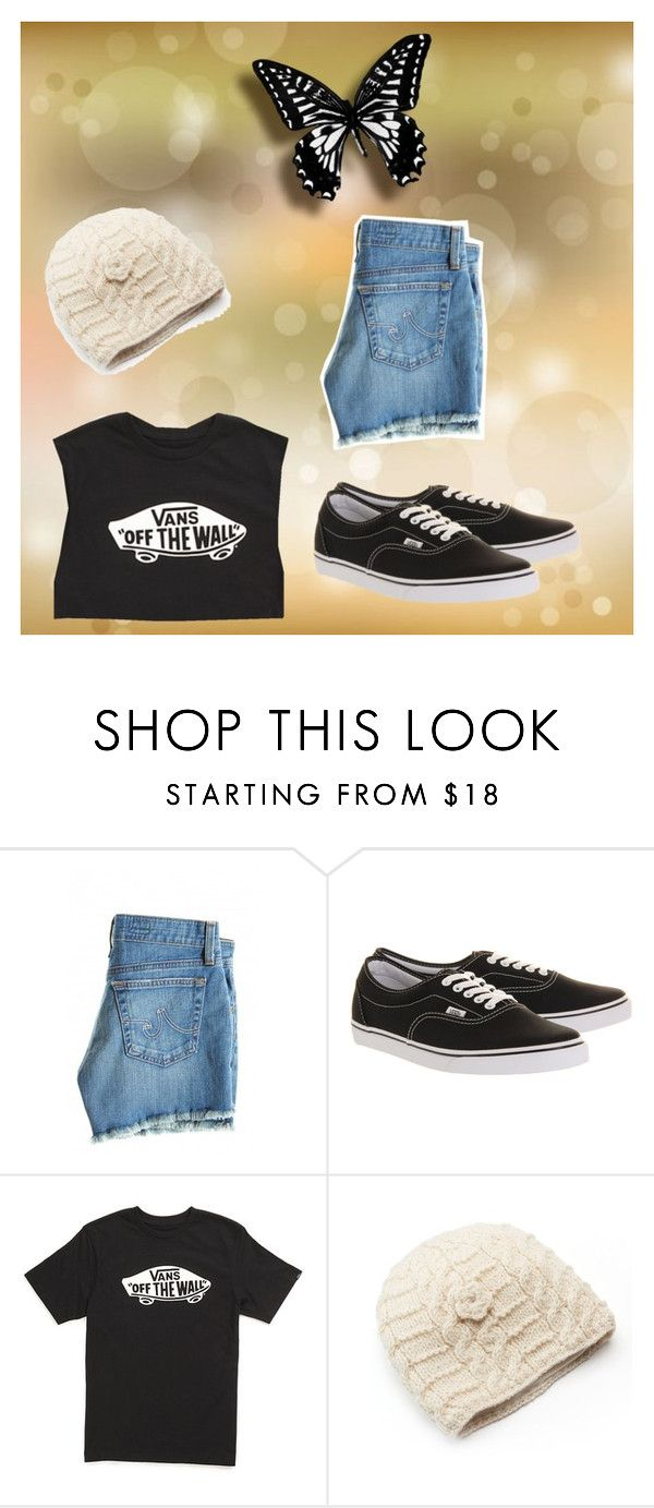 """""""Cute outfit/ Skater outfit"""" by danielle-bff-renee on Polyvore featuring AG Adriano Goldschmied, Vans and SIJJL"""