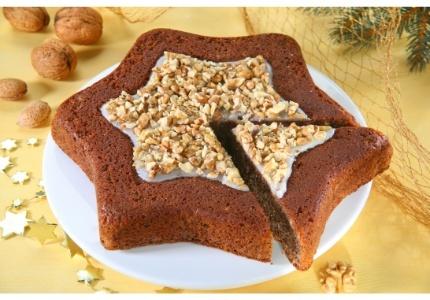 Orzechowa gwiazda. Kliknij w zdjęcie, aby poznać przepis. #ciasta #ciasto #desery #wypieki #cakes #cake #pastries #Xmas