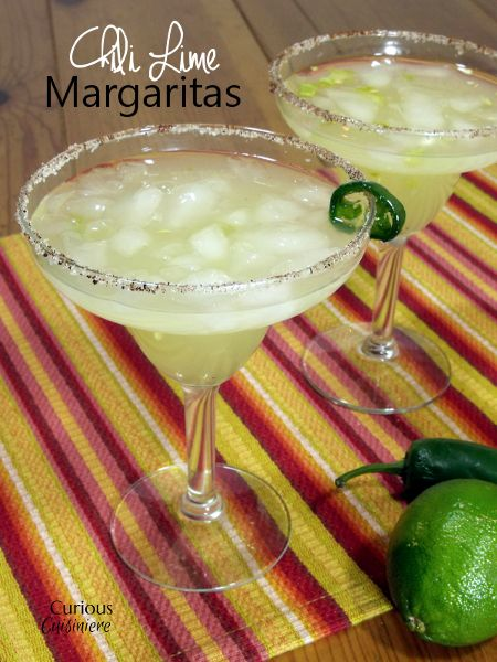 Chili Lime Margaritas from Curious Cuisiniere