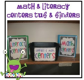 Little Minds at Work: Math & Literacy Centers Organization & Labels