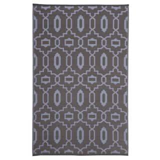 Trellis Grey Indoor/Outdoor Reversible Area Rug (4' x 6')