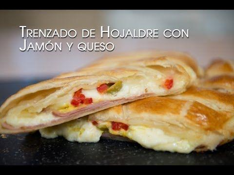 Trenzado de Hojaldre con Jamón, Queso y Bechamel Buenisimo - YouTube
