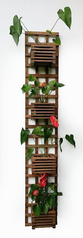 Vertical trellis for your patio, balcony, or even indoors