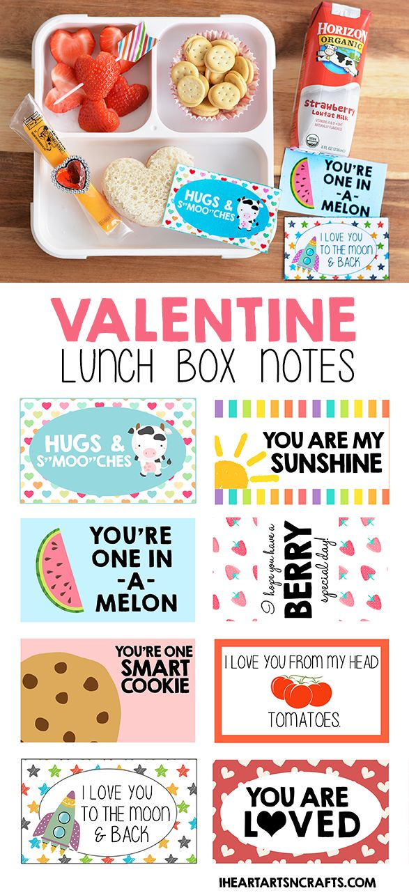Free Printable Valentine Lunch Box Notes @horizonorganic #ad #HorizonRecipe #HorizonSnacks