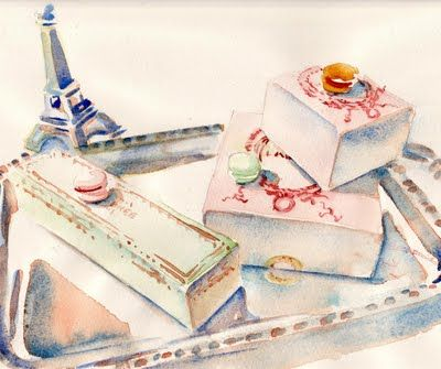I adore Carol Gillot's watercolors of Paris and her blog #parisbreakfast. Gives me a little trip to Paris everytime I visit the blog.