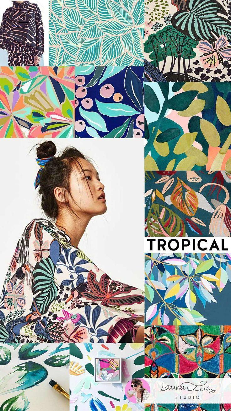 TREND — Lauren Lesley Studio - #tropicalpattern i 2020 ...