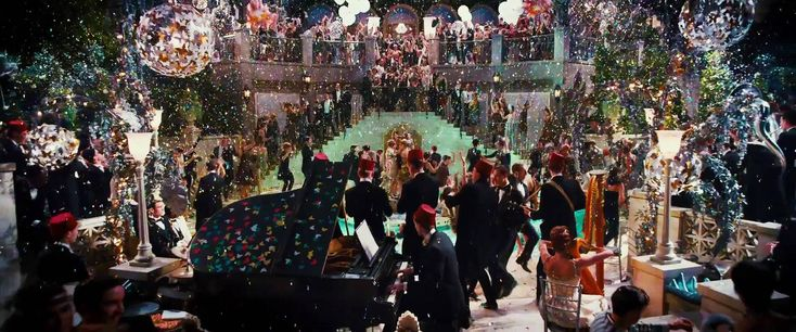 The Great Gatsby (2013) Elegant party