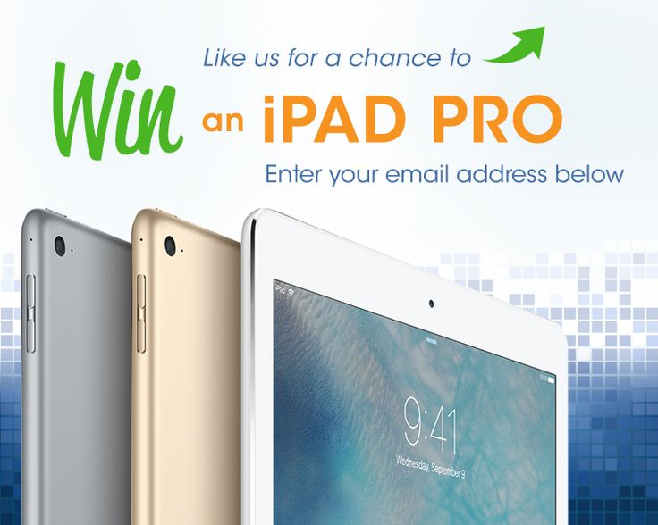 Like Printerinks.com to be entered into a Prize Draw for a chance to win an iPad Pro