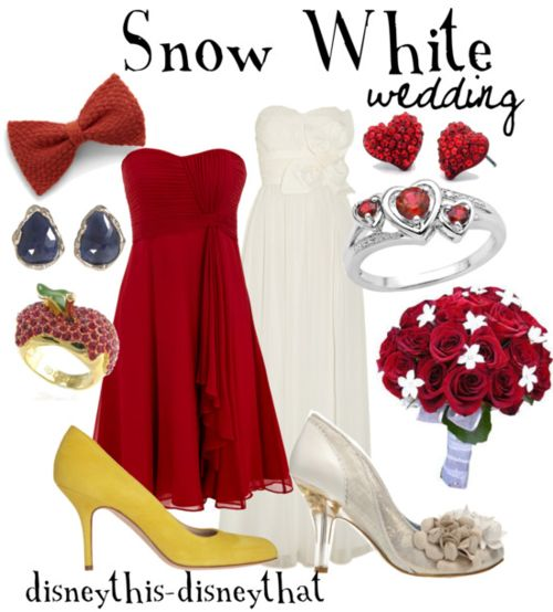 This Is So Cute I Think The White Dress Should Be For Snow And The Red One For The Bridesmaids