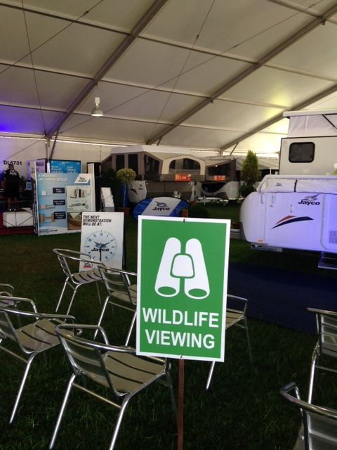 #wildlife viewing at the Jayco Stand 412. Perth Caravan and camping show
