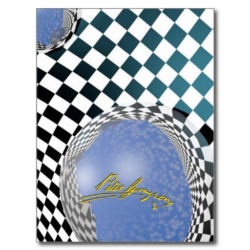 Checkers Galore 3 Postcard from Zazzle. Artwork by Peter grayson