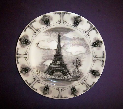 222 Fifth Slice of Life Eiffel Tower Dinner Collector Plate by Marla Shega | eBay