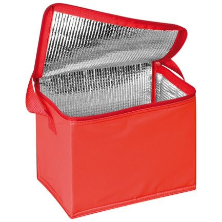 Kırmızı Polyester Kumaş Askılı Soğutucu Çanta